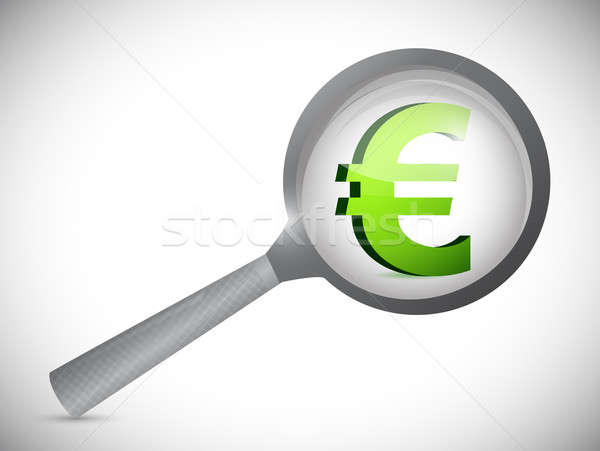 euro currency symbol under review illustration Stock photo © alexmillos