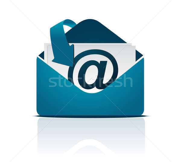 Blue modern business mail Stock photo © alexmillos