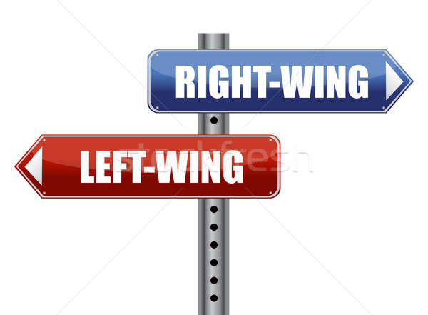 left and right wing sign illustration design Stock photo © alexmillos
