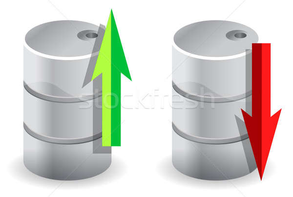 Stock photo: upwards and downwards Oil prices illustration concept