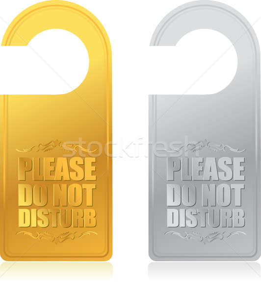 please do not disturb sign Stock photo © alexmillos