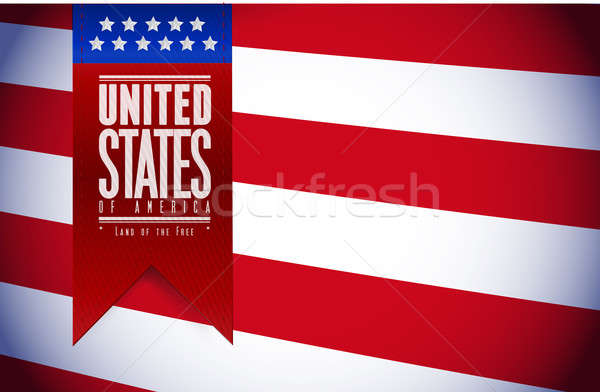 Vereinigte Staaten USA Flagge Banner Illustration Design Stock foto © alexmillos