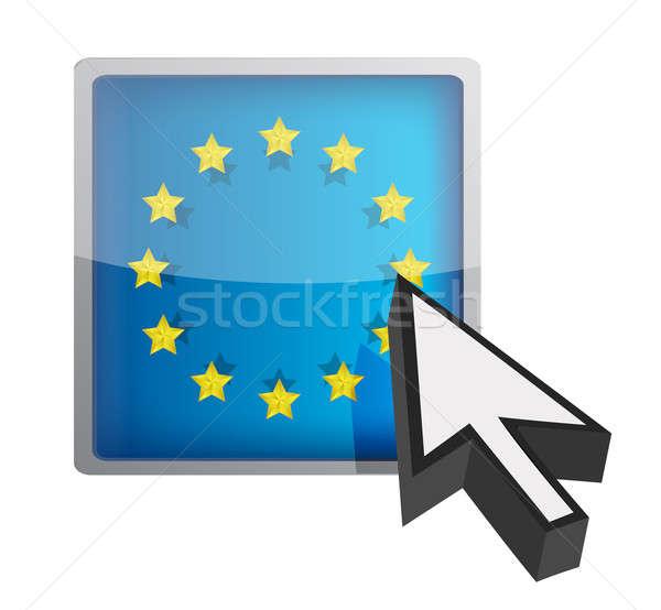 EU gomb kurzor felirat nyíl Stock fotó © alexmillos