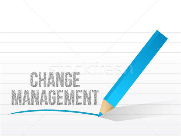 Change management written over a notepad paper Stock photo © alexmillos