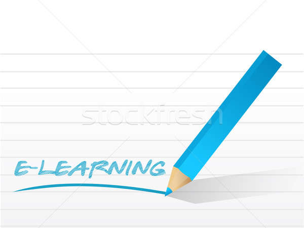 E learning illustration design  Stock photo © alexmillos