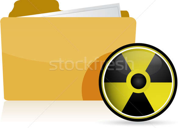 Dossier radioactifs symbole illustration design blanche Photo stock © alexmillos