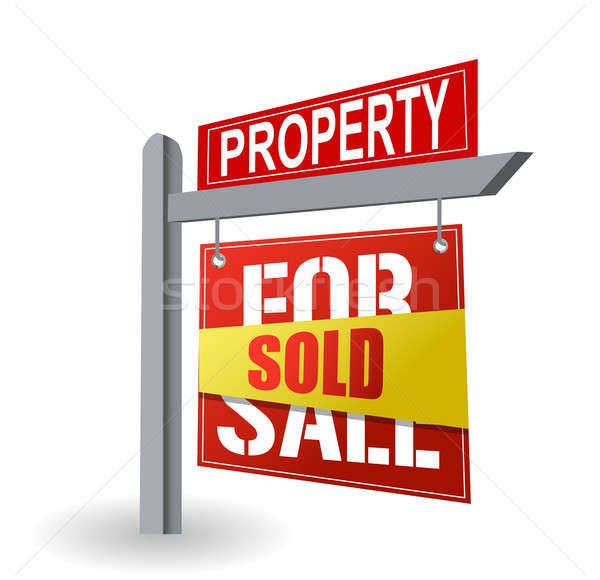 sold - for sale sign illustration design Stock photo © alexmillos