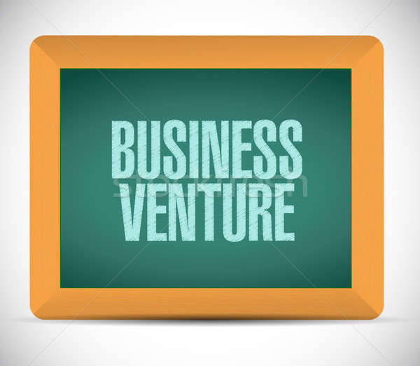business venture chalkboard sign concept Stock photo © alexmillos