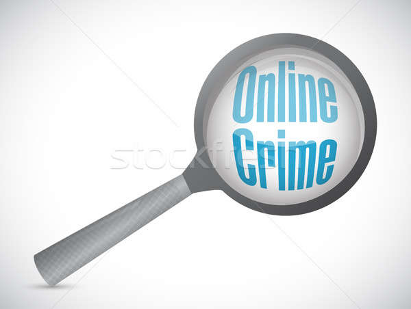 online crime magnify glass sign concept Stock photo © alexmillos