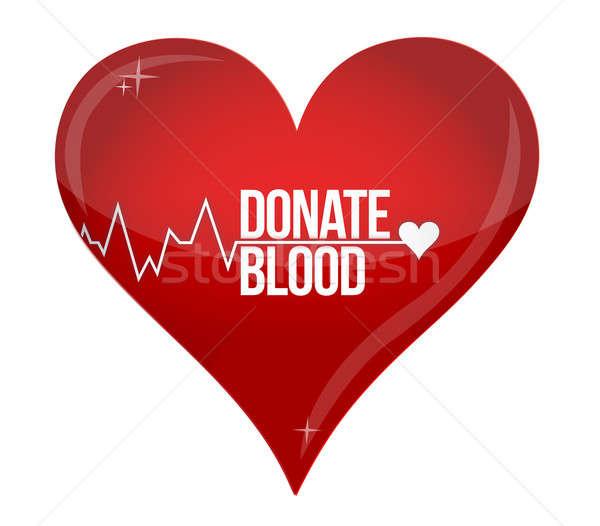 кровь пожертвование медицина помочь больницу сохранить Сток-фото © alexmillos