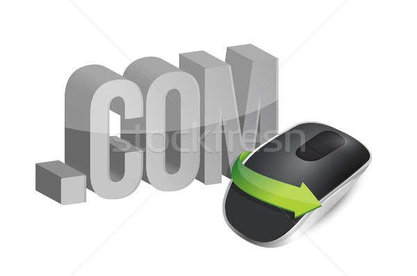 を ワイヤレス コンピューターのマウス 孤立した 白 インターネット ストックフォト © alexmillos