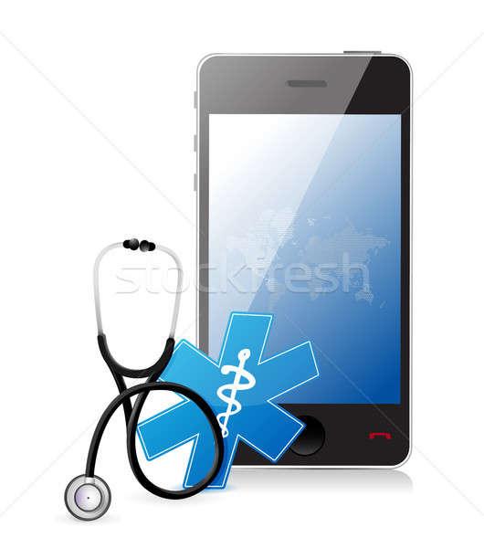 Tıbbi uygulaması stetoskop örnek dizayn Stok fotoğraf © alexmillos