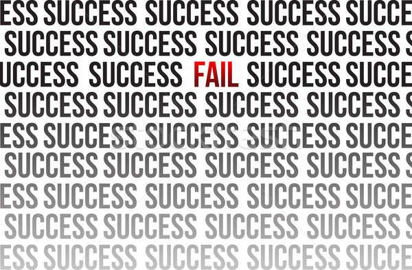 fail around success illustration design over white Stock photo © alexmillos
