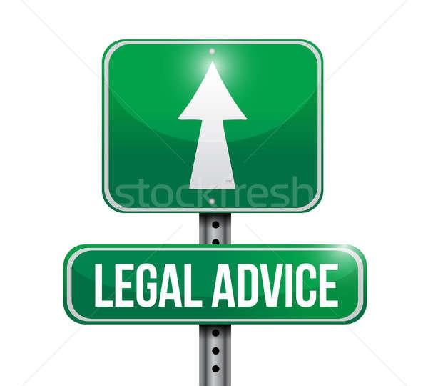 Stok fotoğraf: Yasal · yol · işareti · örnek · dizayn · beyaz
