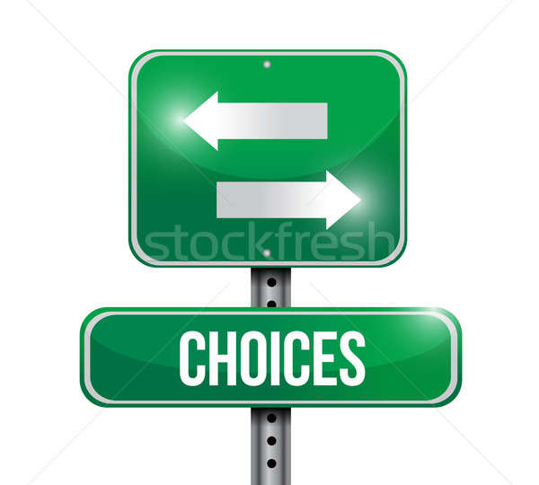 choices road sign illustration design over a white background Stock photo © alexmillos