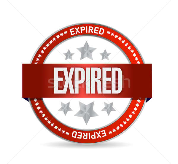 expired seal stamp illustration design over a white background Stock photo © alexmillos