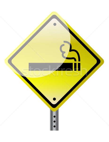 smoking ahead illustration design over a white background Stock photo © alexmillos