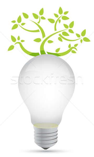 ideas growing concept illustration design over white Stock photo © alexmillos