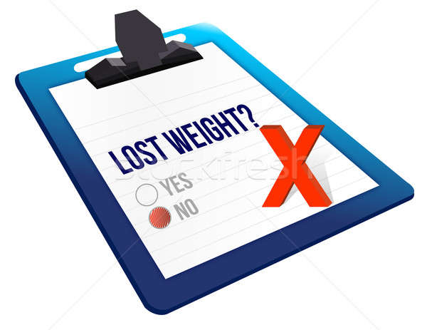 lost weight yes or no selection illustration design over white Stock photo © alexmillos