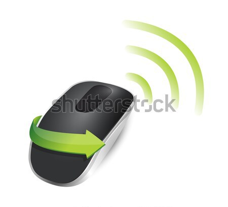 wifi Wireless computer mouse isolated on white background Stock photo © alexmillos