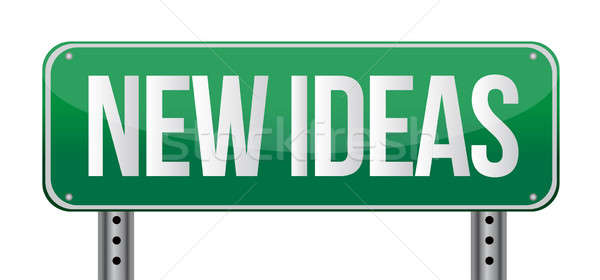 new ideas illustration design over a white background Stock photo © alexmillos