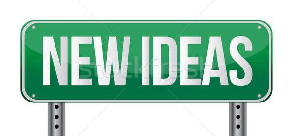Foto d'archivio: Nuovo · idee · illustrazione · design · bianco · business
