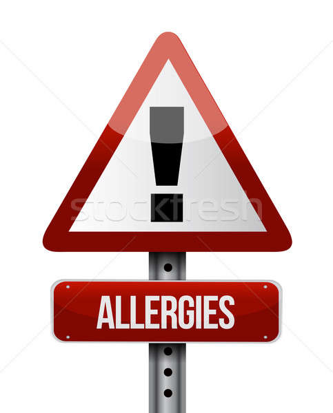Allergies road sign illustration design Stock photo © alexmillos