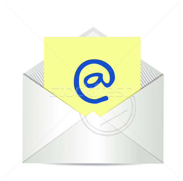 Contact us email letter illustration design  Stock photo © alexmillos