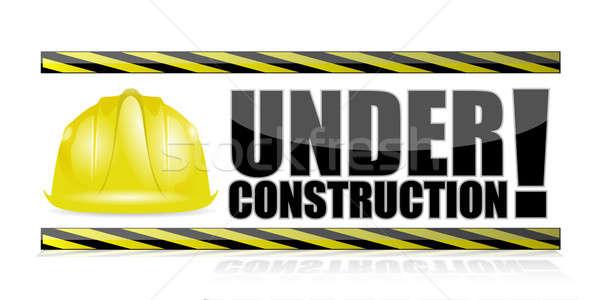 under construction illustration design over a white background Stock photo © alexmillos