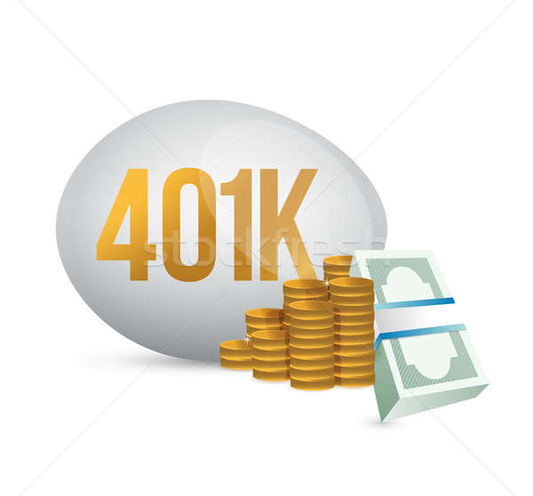401k egg and cash money illustration  Stock photo © alexmillos
