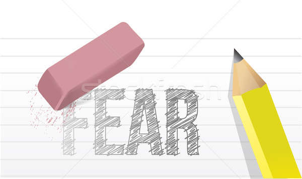 Erase fears concept illustration design  Stock photo © alexmillos
