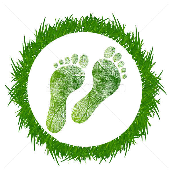 Footprint around grass Stock photo © alexmillos