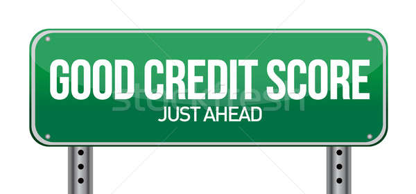 good credit scores just ahead illustration design over white Stock photo © alexmillos