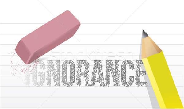 Erase ignorance concept illustration  Stock photo © alexmillos
