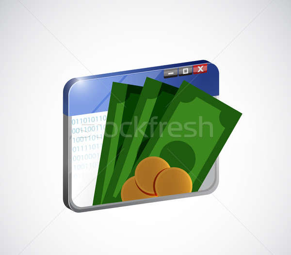 online mobile payment concept isolated Stock photo © alexmillos
