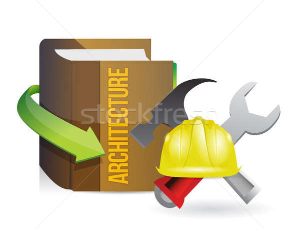 architecture book of knowledge and building tools Stock photo © alexmillos