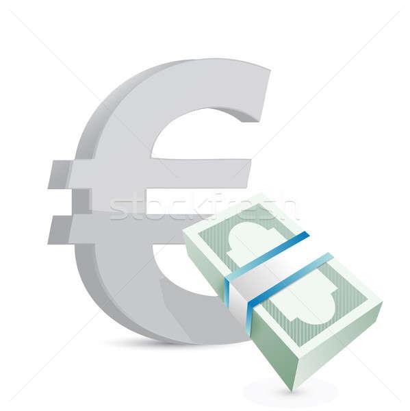 Euro valuta scambio illustrazione design Foto d'archivio © alexmillos