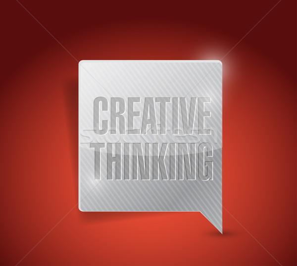 創造的思考 メッセージ 実例 デザイン バブル グラフィック ストックフォト © alexmillos