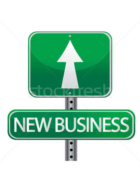 New business street sign Stock photo © alexmillos