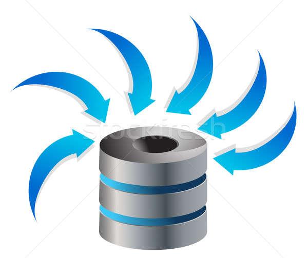 Cloud Computing Server Icon illustration design over white Stock photo © alexmillos