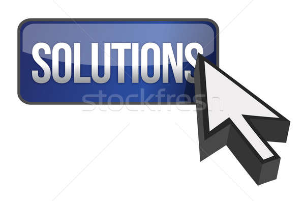 solutions button illustration design over a white background Stock photo © alexmillos