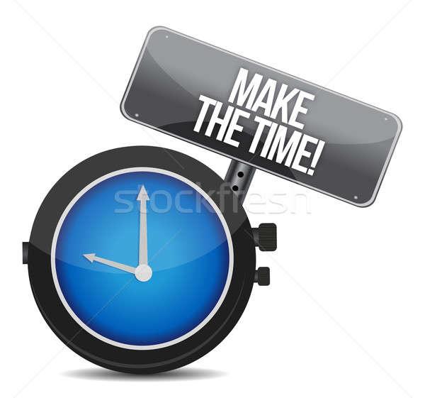 make time message concept illustration design over white Stock photo © alexmillos