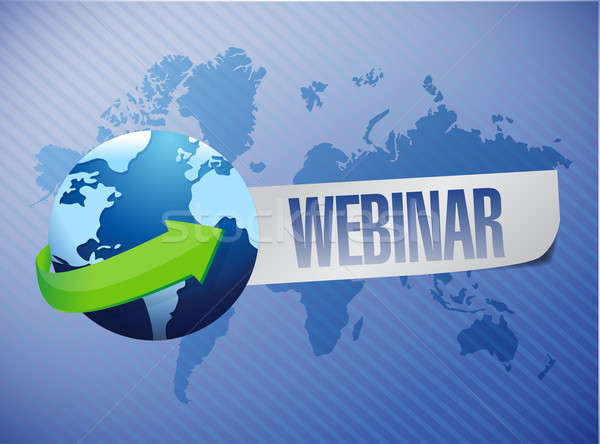 webinar globe concept illustration design over a world map backg Stock photo © alexmillos