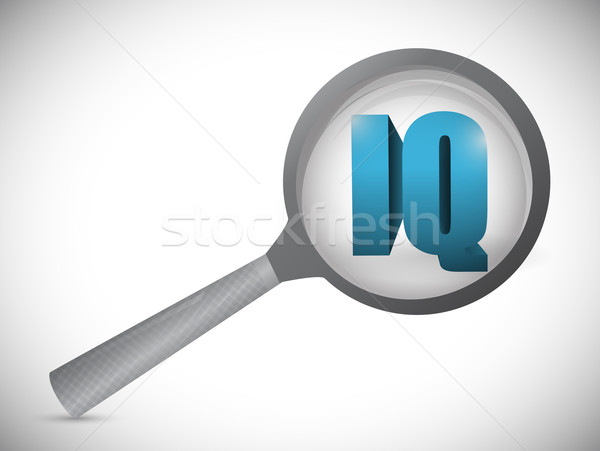 ig magnify research investigation illustration design over white Stock photo © alexmillos