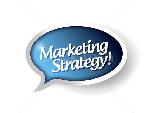 Estratégia de marketing mensagem comunicação bolha ilustração projeto Foto stock © alexmillos