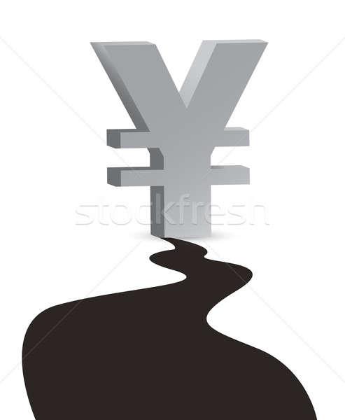 Сток-фото: иена · Нефтяная · промышленность · большой · нефть · капелька · иллюстрация