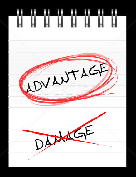 Chose the word ADVANTAGE over DAMAGE Stock photo © alexmillos