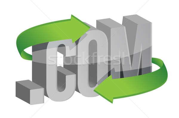 Website com on the move concept  Stock photo © alexmillos