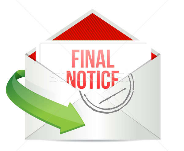 Stock photo: Final notice envelope mail correspondence