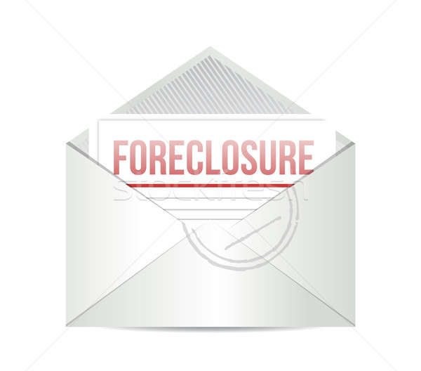 Foreclosure mail illustration design over white Stock photo © alexmillos